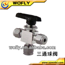 3inch stailess steel Italy manual 3 way ball valve ball valve price