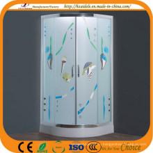 Узорчатое стекло лоток сектор душевая кабина (АДЛ-8048)