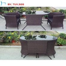 Table et chaise de salle à manger de meubles de rotin 2016 (CF1245T + CF1245C)