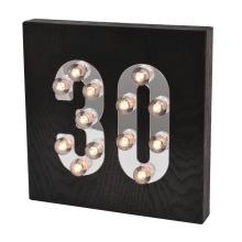 Schwarzes hölzernes LED-Licht für Hauptdekoration
