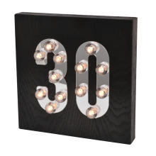 Black Idade madeira luz LED para decoração de casa