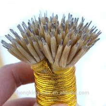 Extensions de cheveux nano européenne de cheveux de Remy de cheveux