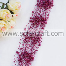 Red Colors Imitation Pearl Beaded Chains With 3+8MM For Decoration
