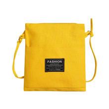 Summer 2019 new fashion stitching single shoulder bag lady Korean version Baitajie canvas Bucket Bag