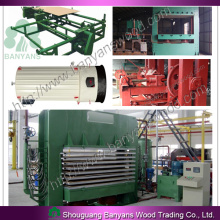 Plywood Production Line//Film Faced Plywood and Plywood Making Machine
