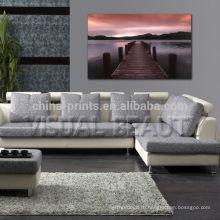 Озеро Декорации Холст художественные печати Внутреннее украшение стены