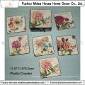 Europe Rose Design PVC Coaster