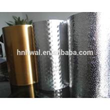 Papel de alumínio impresso e em relevo para decoração