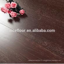 TEXTURE EN COUVERCLE BLANC BLANC BLANC EN BOIS DE CHEVE Plancher en bois à trois couches