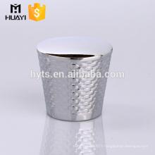 best selling sliver zamac decorative end cap for perfume glass bottle