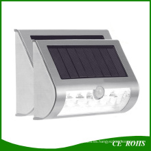 9LED Solar LED montado en la pared Sensor de movimiento a prueba de agua y Dim Solar Solar Solar Outdoor Garden Stair Gate Yard Path lámpara