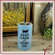 Suporte de escova de cerâmica azul