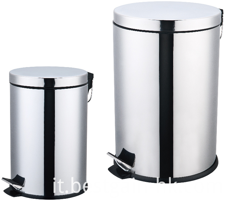 Stainless Steel Pedal Bin Set