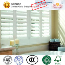 New Design Hot Quality of Cheap Price with Custom-Made Stained Plantation Shutters Double Open