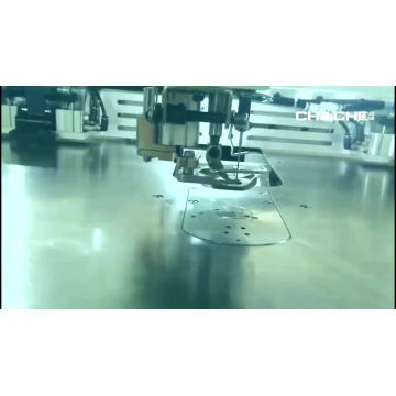 máquina de costura automática em zigue-zague