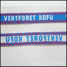 Fita feita sob encomenda da seda / cetim / jacquard / correia feita sob encomenda trançada do logotipo para a exposição