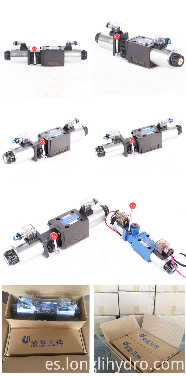 4WEMM10 Hydraulic Solenoid Manual Directional Control Valve