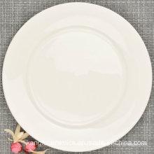 Placa de jantar da porcelana de China do osso 10 polegadas