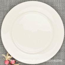 Placa de cena de porcelana de hueso de 10 pulgadas