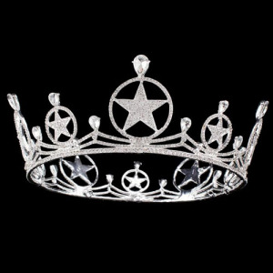 Alloy Crystal Large Star Shaped Queen Crown