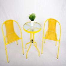 Tuinmeubilair tabel stoelen setWicker tafel en stoel 3Delig
