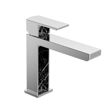 Modern Brass Single Handle Lever Wash Basin Mixer Washroom Deck Mounted Water Sink Faucet Tap Chrome Bathroom Faucets