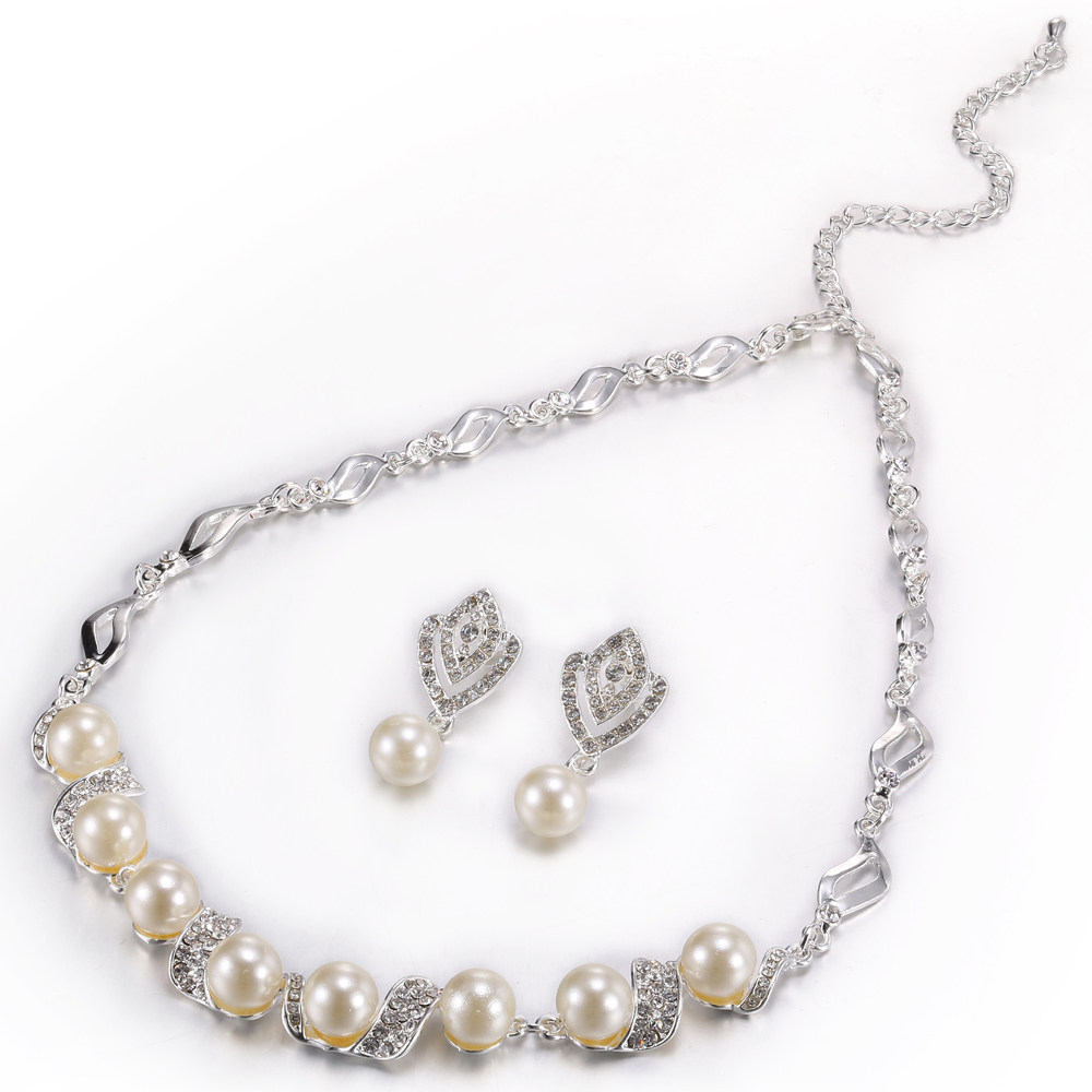 2018 Pearl Necklace Pearl Bridal Jewelry Set