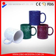 Unterschiedliche Größe 9-11oz Farben-Glasur-quadratische keramische Kaffeetasse