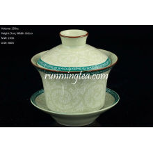 Tang Cao (Tang-Dynastie Blumen-Design) Gaiwan 150ccm