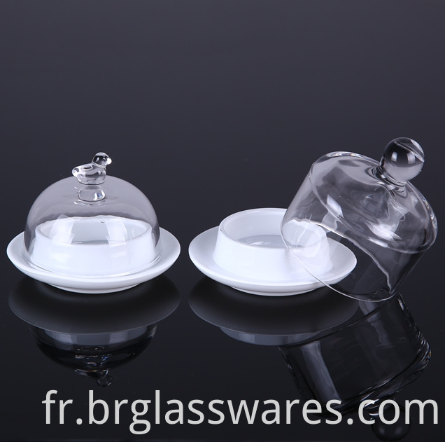 Glass butter jar/dish