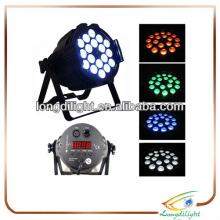 18*3w 3in1 quad color LED par 64 light,die-casting aluminium,7 DMX channels/lighting par rgb led 3w tri