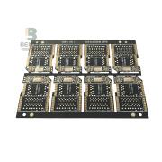 2 FR4 Layer PCB Quickturn PCB Ultrasottile Matt Black Ink