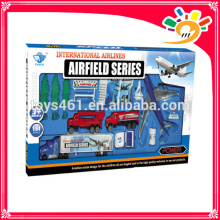 metal plane set toy metal car free wheel die cast airport play set