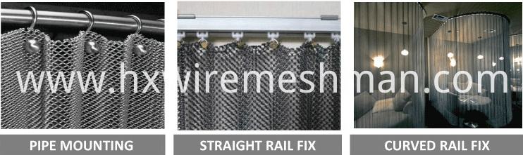 wire mesh curtain fix design