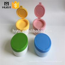 Flacon de poudre de talc en plastique cosmétique de 140ml