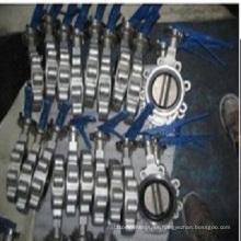 Válvula de mariposa neumática sanitaria del acero inoxidable (bastidor de inversión)