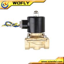 2/2 way precio bajo temperatura normal electroválvula de latón de 9v normalmente cerrada para la fuente