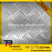 Stucco Embossed brillant en surface motif diamant en aluminium