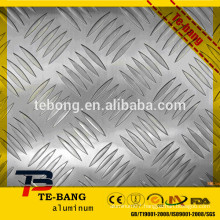 Stucco Embossed Bright surface diamond pattern aluminium sheet
