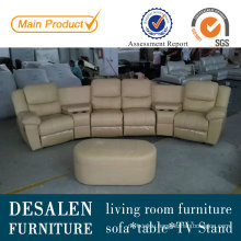 Home Theater Electric Type Genuine Leather Recliner Sofa (D1001)