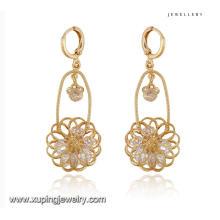 91702 мода модные CZ алмазов 18k золото Цвет бижутерии серьги падения
