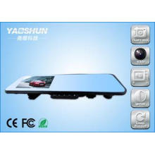 Dual Camera GPS Vehicle Car DVR Rear View Mirror With 4.3 I
