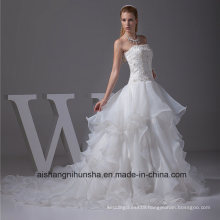 New Arrival Wedding Dress Robe Tulle Strapless Wedding Gown
