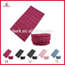 Ningbo Lingshang LSB-5407 100% Polyester Microfaser Custom Bandana Nahtlose Kopfbedeckung Schädel Hals Rohr