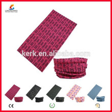 Ningbo Lingshang LSB-5407 100% poliéster Microfibra Custom Bandana Tubo sin costuras del cuello del cráneo headwear