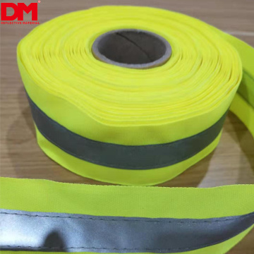 sew on high visibility reflective ribbon webbing tape heat transfer film