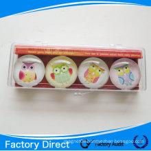 Home decorative crystal glass fridge magnet/custom round fridge magnet