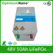 Rechargeable Lithium Li Ion Solar Battery Pack 48V 50ah