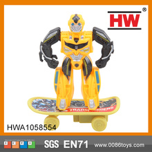 Funny Pull Back Skateboard Robot Wholesale Cheap Cina Toy