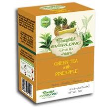 Pinapple aromatizado chá verde pirâmide chá saco superior mistura orgânica e compatível com a UE (ftb1504)